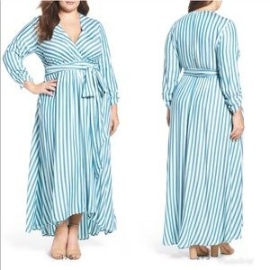Melissa McCarthy Seven7 Striped Maxi Dress 1X